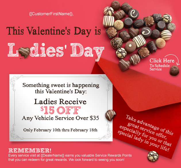 Valentine's Day is Ladies Day